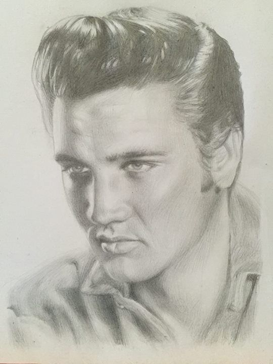 Elvis Presley Drawing By Charlotte Oxenham