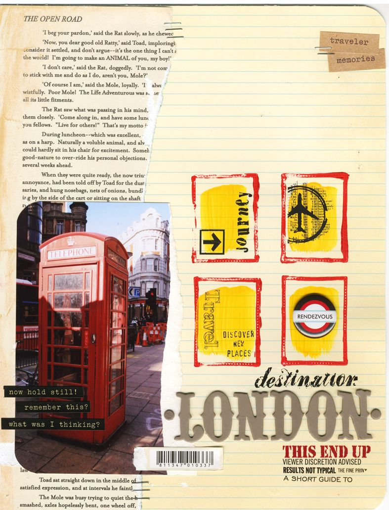 Scrapbook ideas england - London Travel Scrapbook Page Yep I Am Going There I Will Have A Page