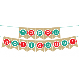 picture regarding Happy Holidays Banner Printable referred to as Printable \