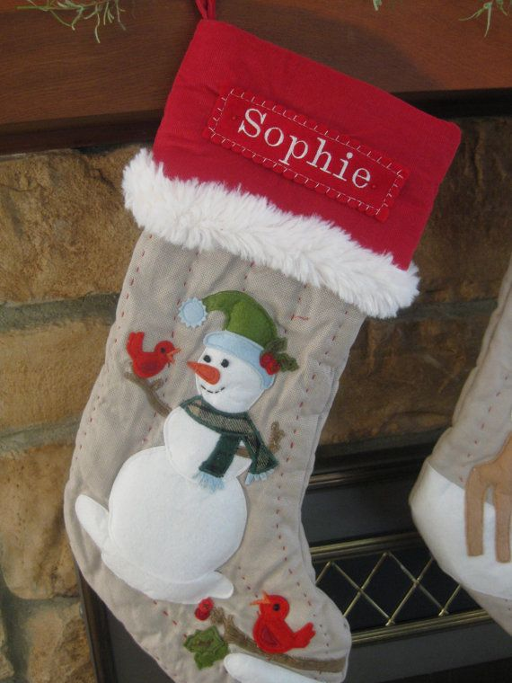 Woodland Stocking --- SNOWMAN | Christmas | Pinterest | Snowman ...