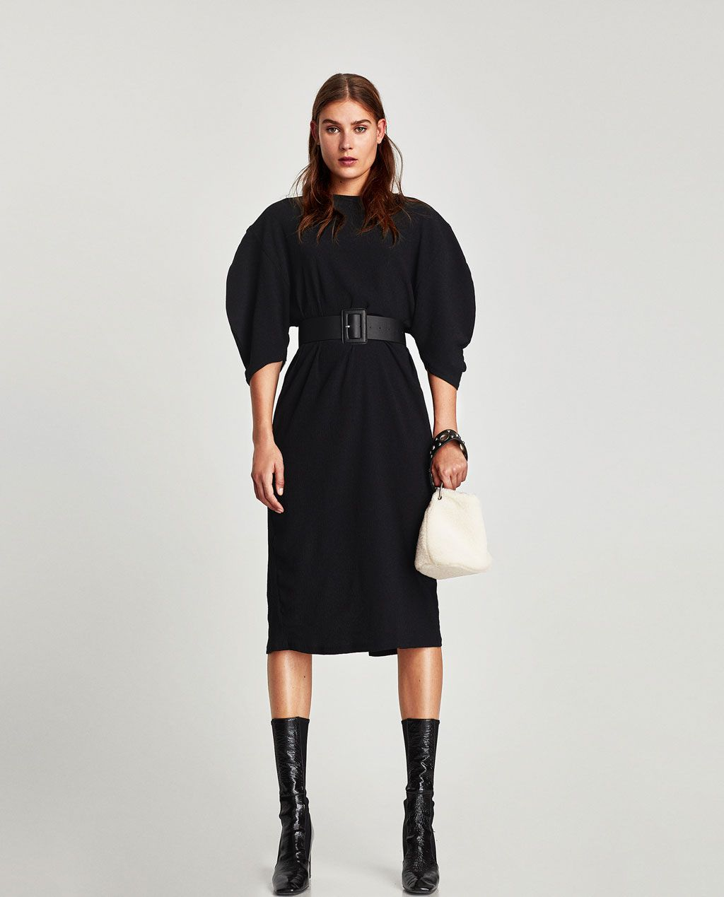 8b972d6f Image 1 of PUFF SLEEVE DRESS from Zara | breath taking | Dresses ...