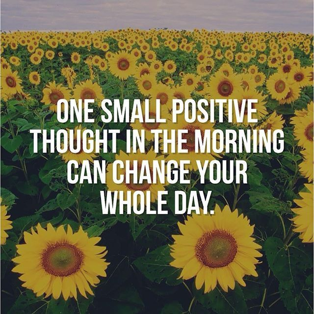 One Small Positive Thought In The Morning Can Change Your Whole Day Life  Quotes Life Life