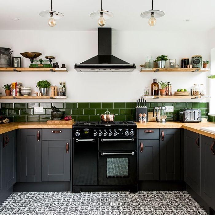 1001 Modeles De La Cuisine Verte De Style Moderne Ou Classique En 2020 Cuisine Gris Cuisine Moderne Idee Deco Cuisine