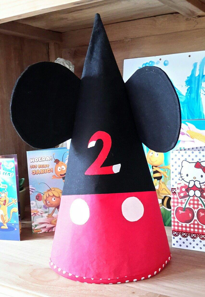 Micky Mouse verjaardagshoed mijn versie