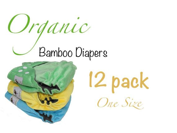 Organic Bamboo Diapers One Size with Organic Hemp by Momgaroo