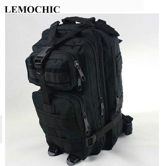 LEMOCHIC canvas 3P military camouflage tactical backpack motorcycle denim school travel sports bag hiking camping attack packets