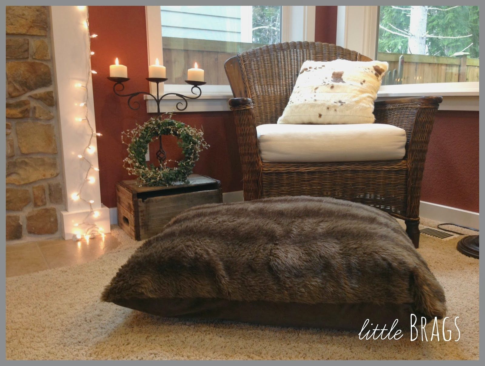 Fur Pillow And Fur Pet Bed From Cost Plus World Market