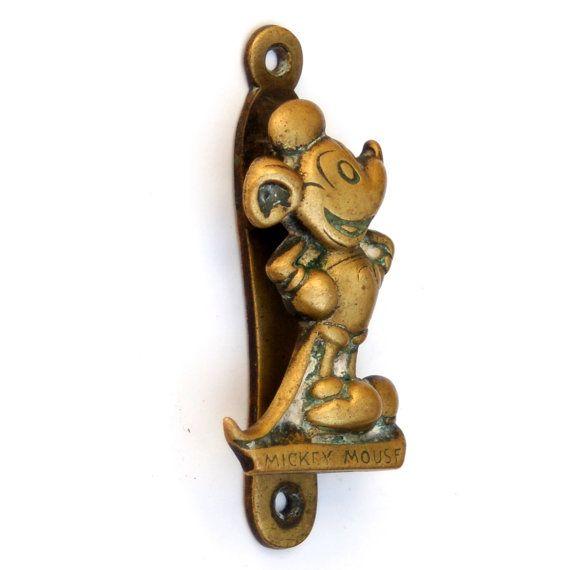 Antique Mickey Mouse Door Knocker Rare Walt Disney By