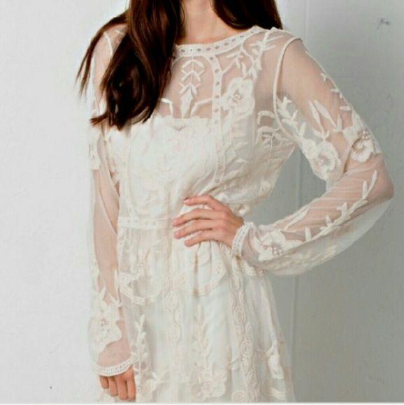 mini ivory lace dress