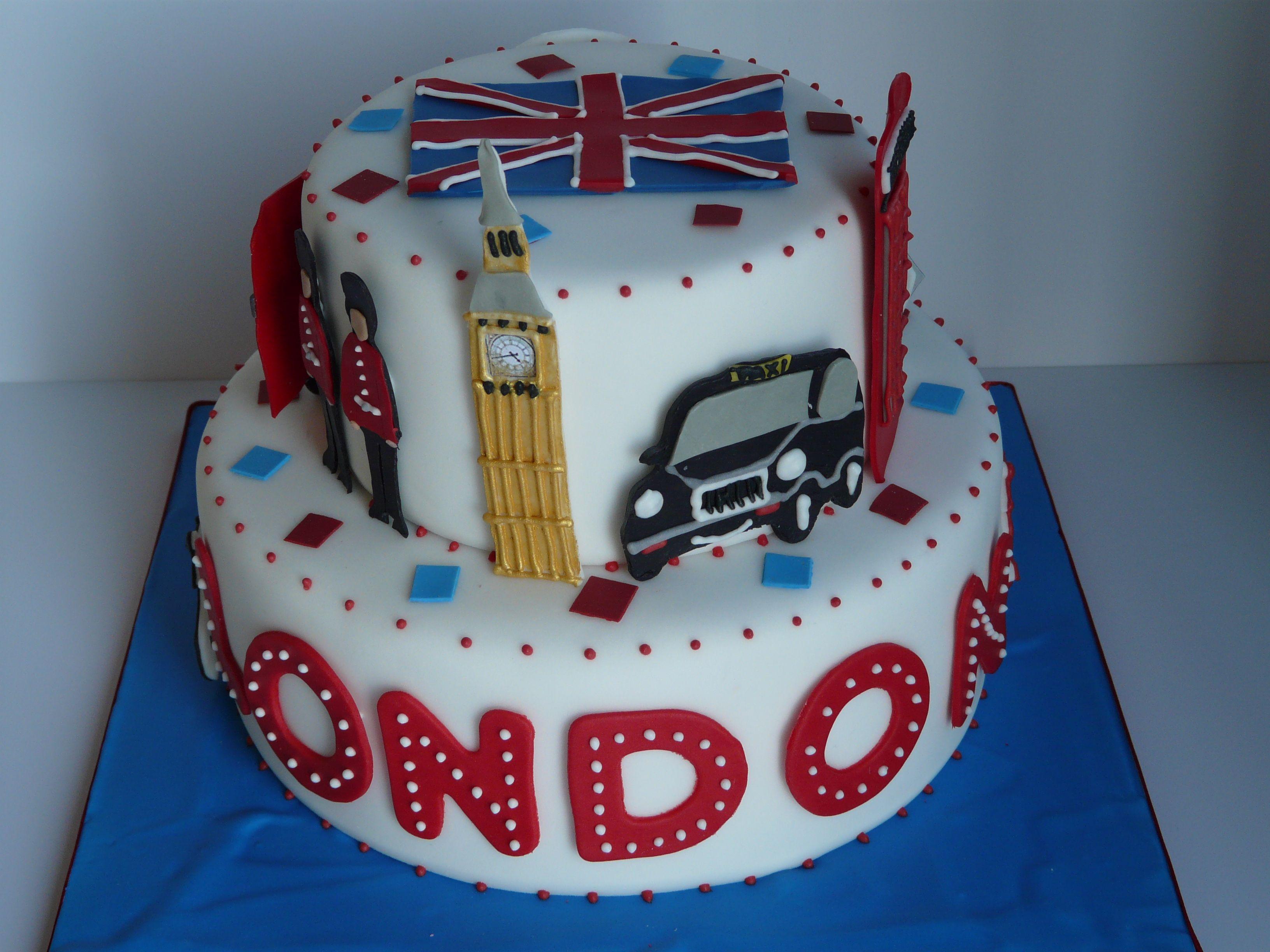 Fantastic London Cake With Images London Cake British Cake Cake Decorating Personalised Birthday Cards Vishlily Jamesorg
