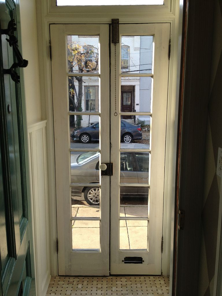 The Final French Door Hardware Item, a Beautiful Antique Sli…