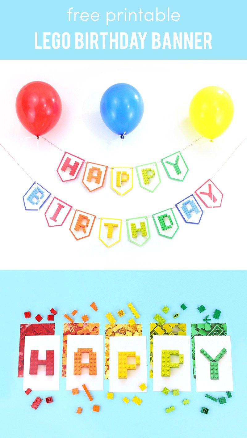 Free Printable Lego Birthday Banner - download these Lego ...