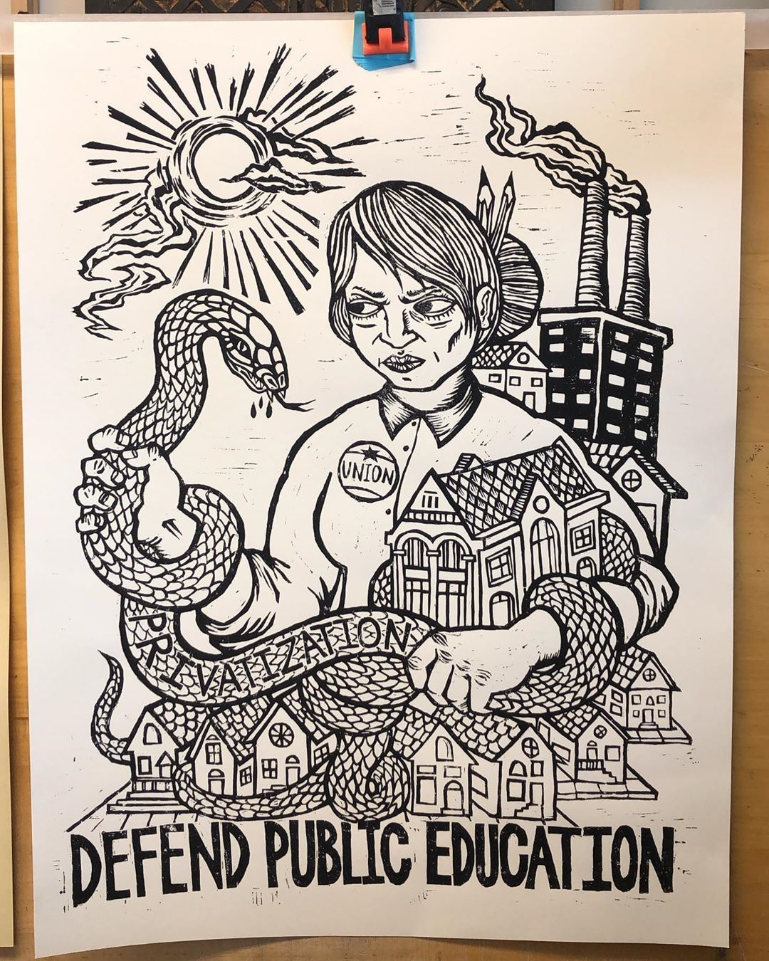 Amplifier On Instagram Defend Public Education By Johnfleissner Discovered During Our Studio Visit With Raouldeal At Protest Art Activism Art Political Art