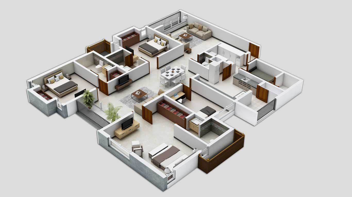 Http Cdn Home Designing Com Wp Content Uploads 2014 12 How To Layout Three Bedrooms Jpg Denah Rumah Desain Rumah Perencanaan
