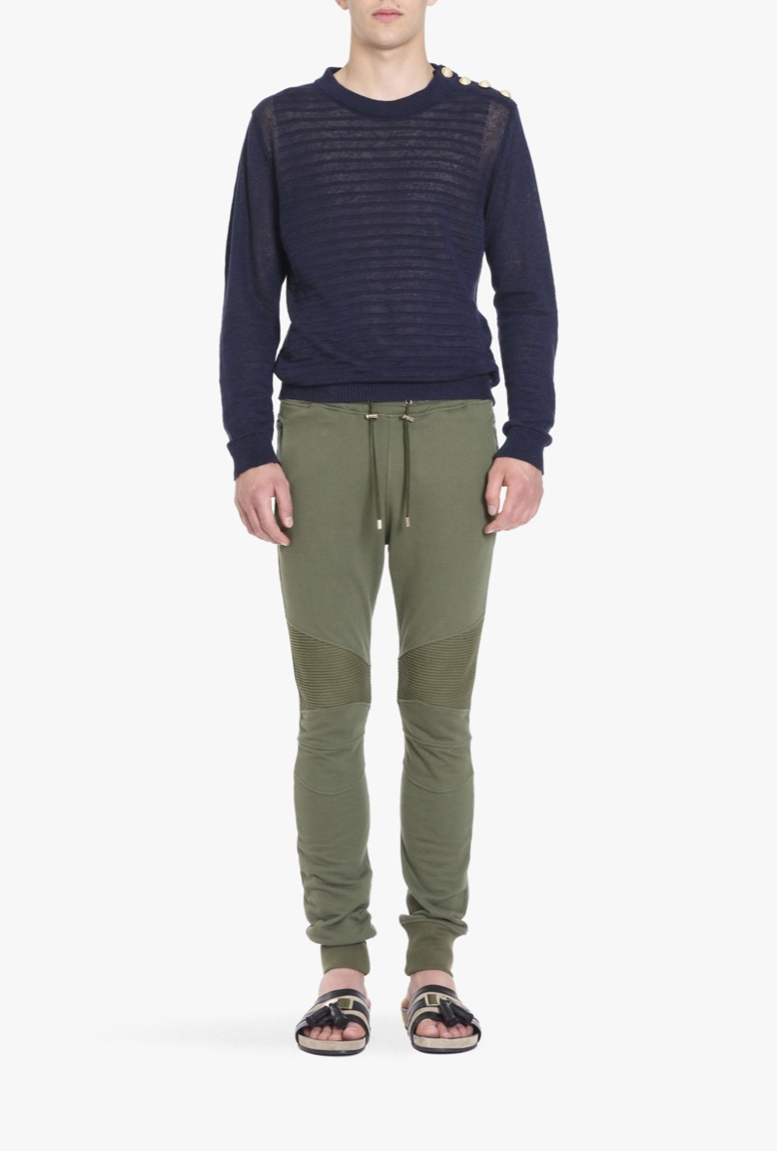 a7b5eefe967b Pantalon de survêtement motard en jersey de coton