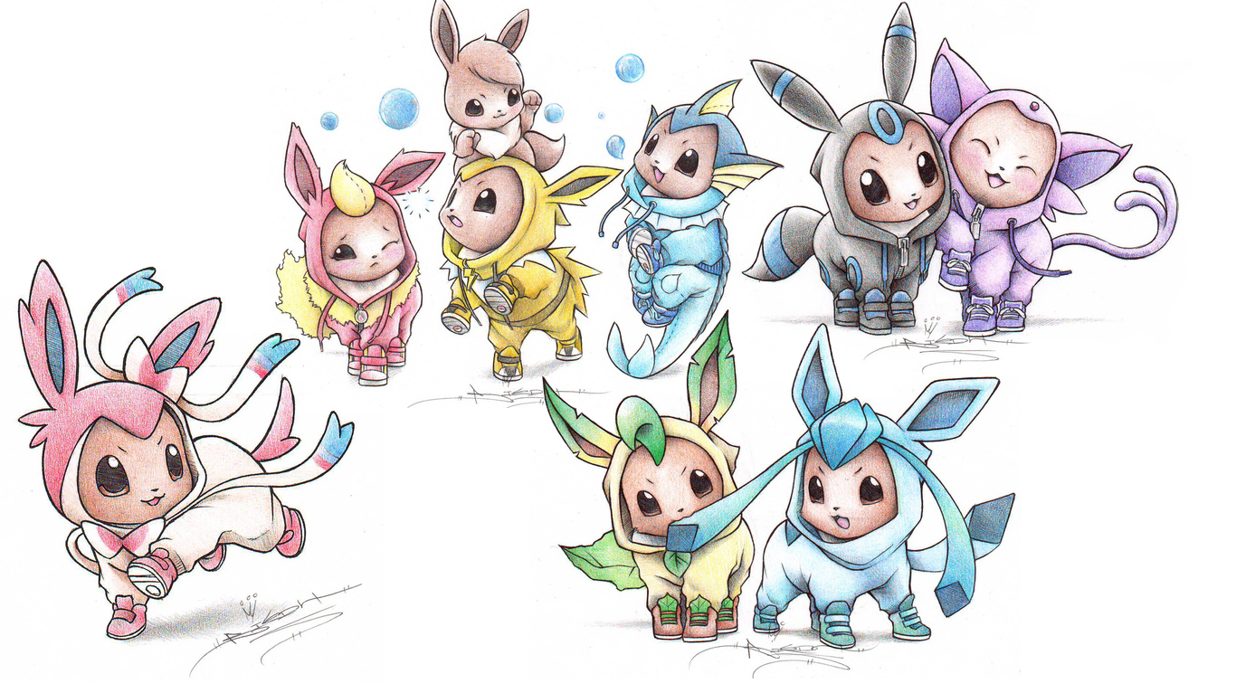Pokemon Coloring Pages Eevee Evolutions Togetherbest Dad Ever