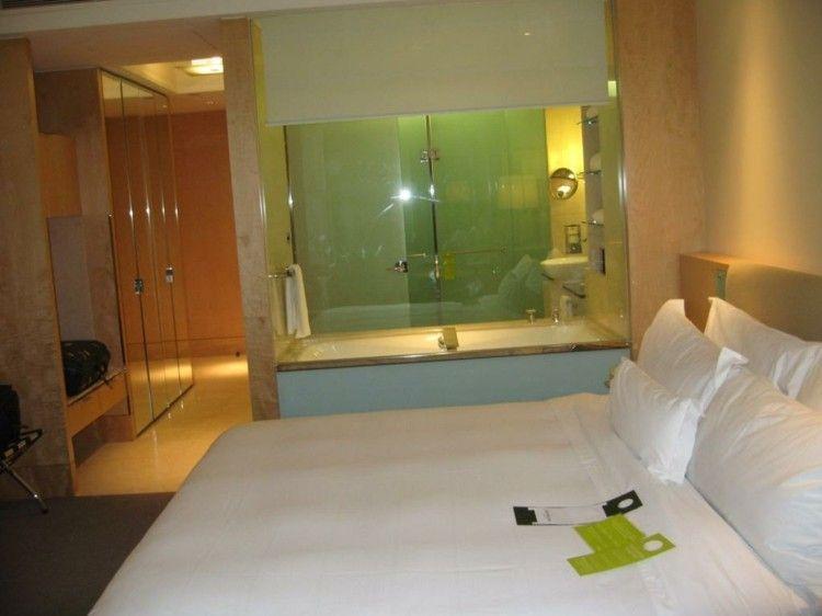 Cuartos de baño acristalados en el dormitorio - 25 ideas ...