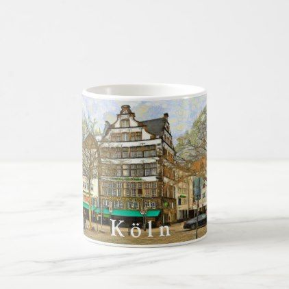 Heumarkt Square In Cologne Coffee Mug Home Gifts Ideas Decor Special Unique Custom Individual Customized Individualized Mugs Home Gifts Coffee Mugs