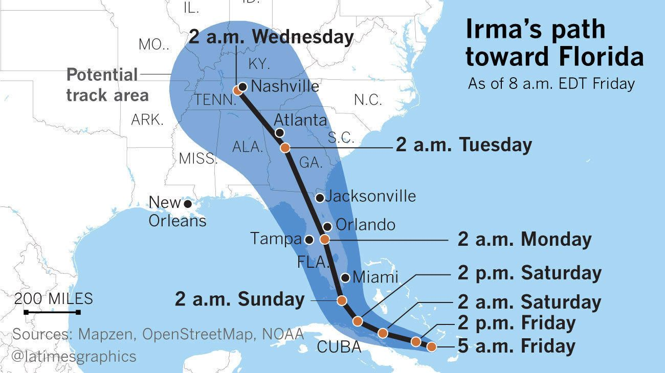 Faster Than Harvey And Bigger Than Andrew Irma Is Unlike Any Storm Florida Has Ever Seen Florida Storm Category 5