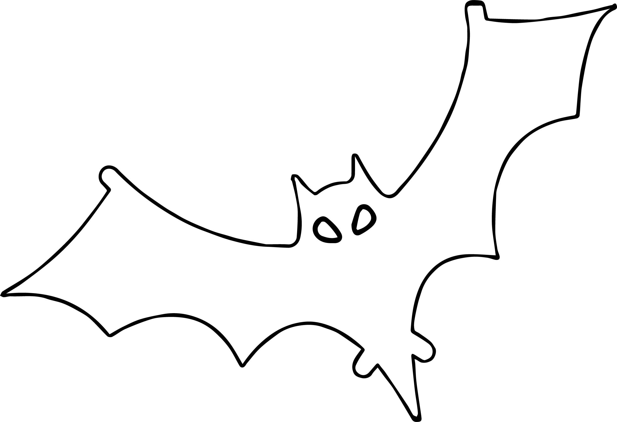 Cool Outline Bat Coloring Page With Images Bat Coloring Pages