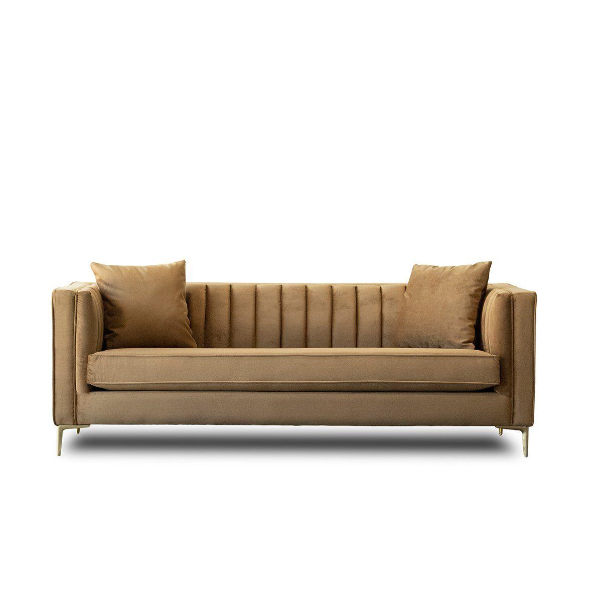 Kendra Sofa In Cognac Sofa Modern Sofa Mid Century Modern Sofa