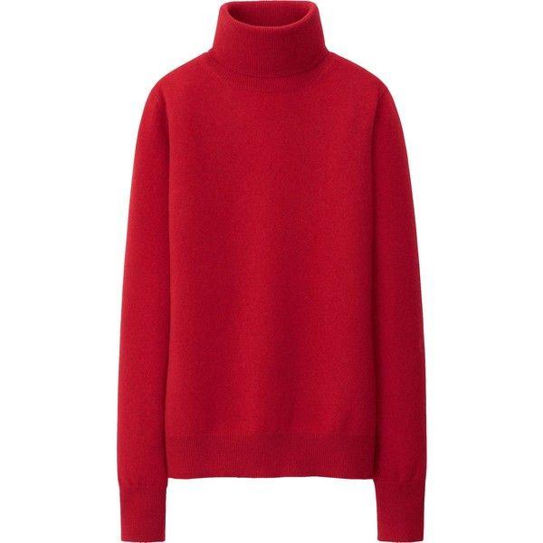 UNIQLO Women Cashmere Turtle Neck Sweater (412.920 IDR) ❤ liked ...
