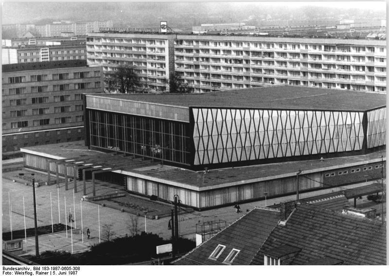 Cottbus Stadthalle June 1987 Cottbus, Ddr, Architektur