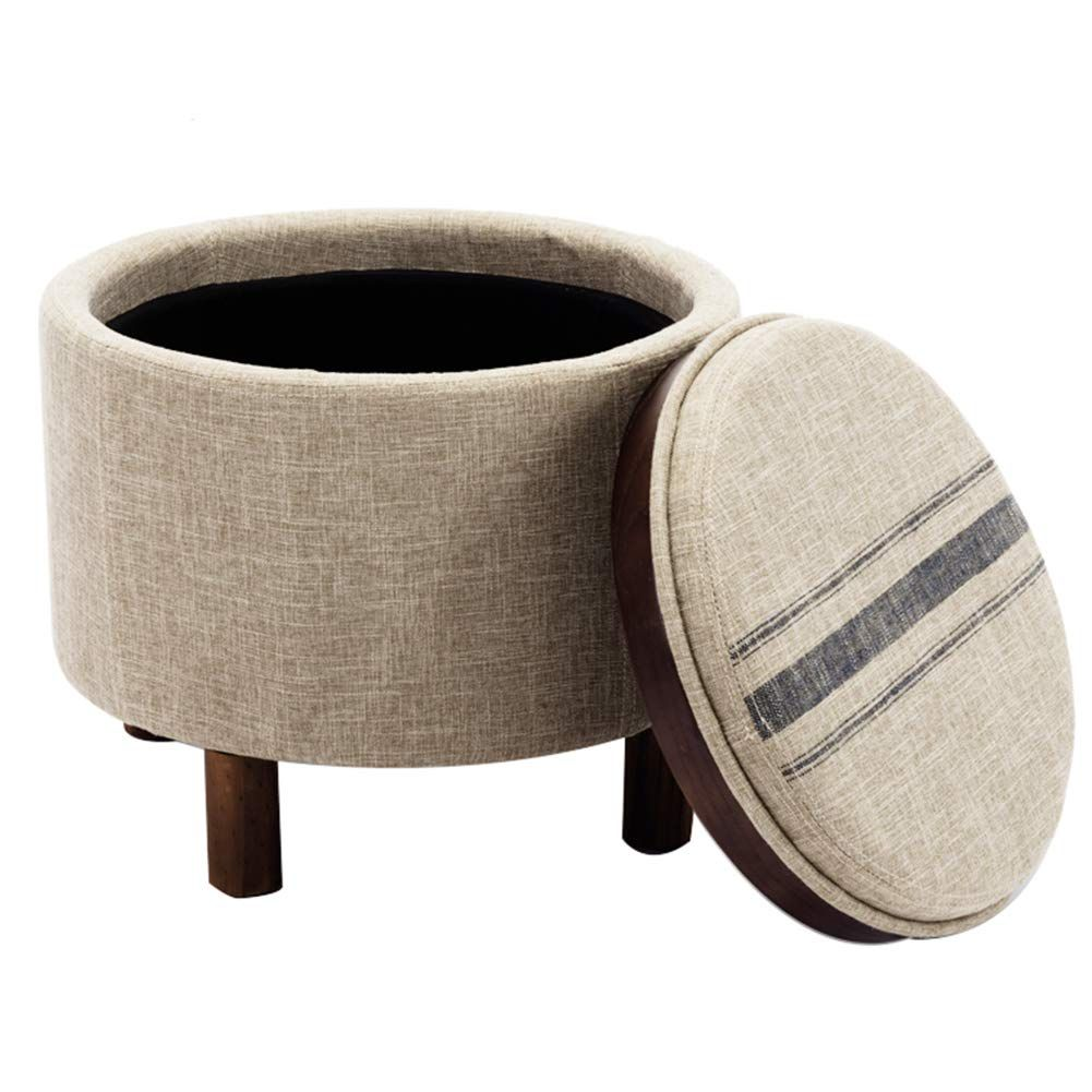 Miraculous Amazon Com Chairus Round Storage Ottoman With Tray Small Gmtry Best Dining Table And Chair Ideas Images Gmtryco
