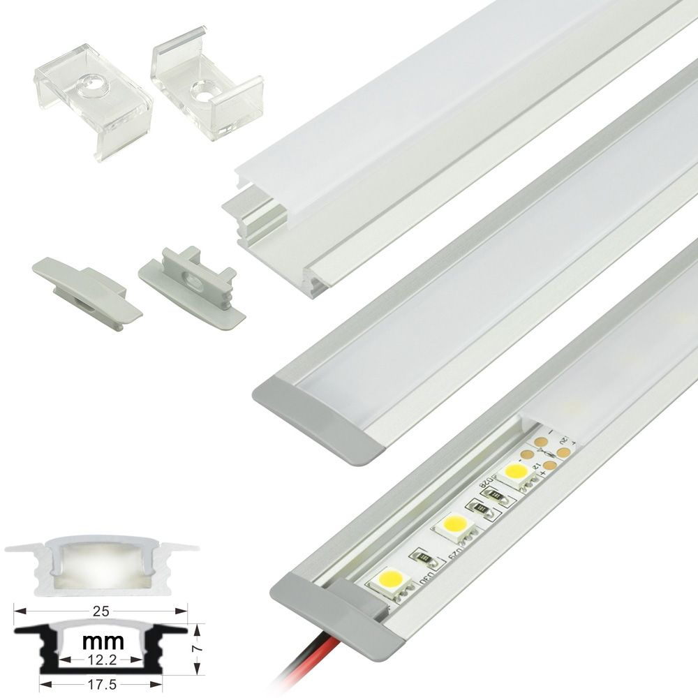 Aluminum channels protect and provide light diffusion for 10 12mm aluminum channels protect and provide light diffusion for flexible led strip lights and rigid light bar interior lighting aloadofball Gallery