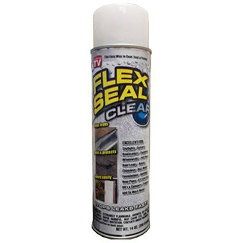 Flex Seal Spray Rubber Sealant Coating 14 Oz Clear Flex See On Tv Drip Edge Spray Can