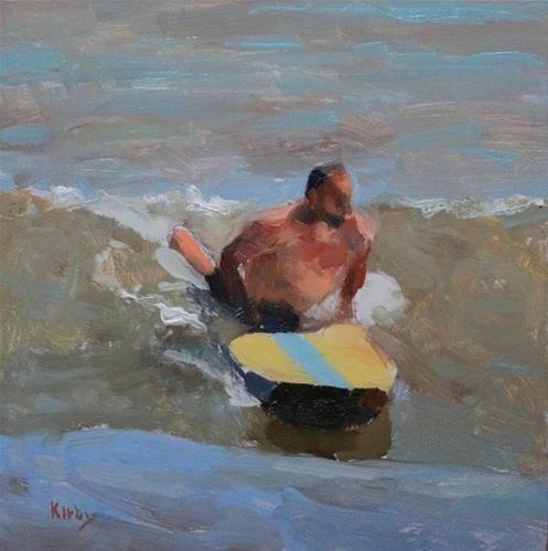 """Longboarder"" - Original Fine Art for Sale - © Randall Cogburn"