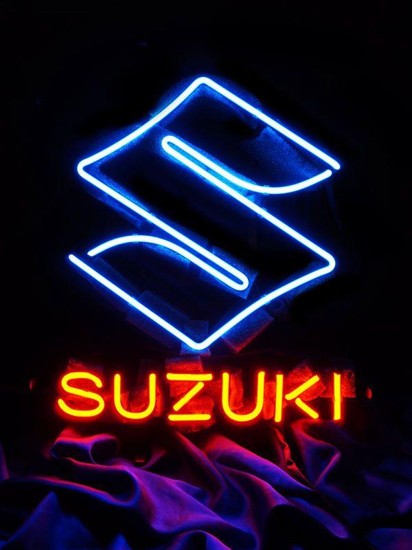suzuki logo motorcycle bike beer pub bar led neon light. Black Bedroom Furniture Sets. Home Design Ideas