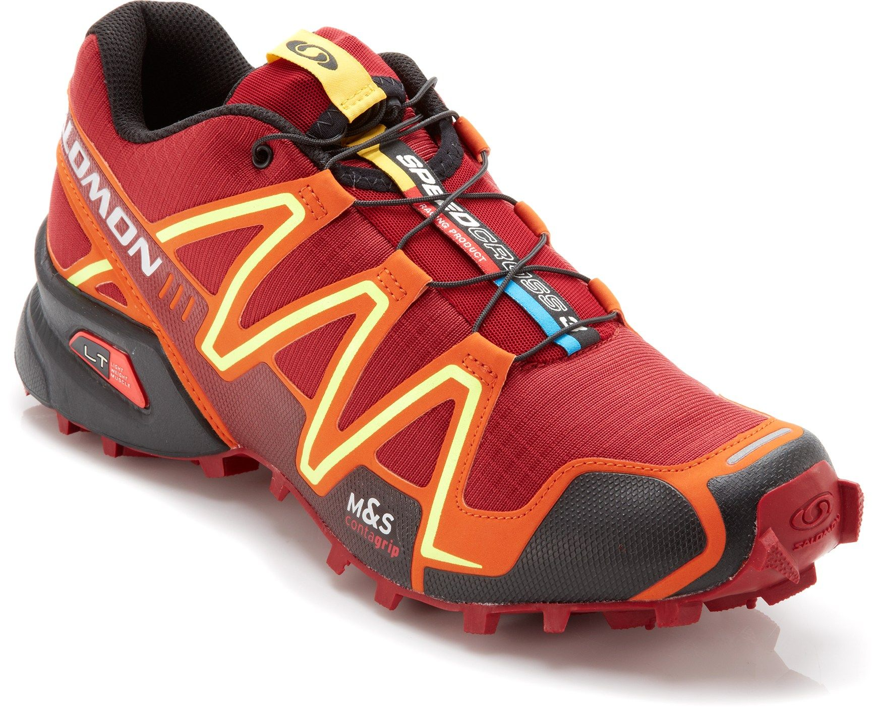 Ideal for off-road adventure racing—Men's Salomon Speedcross 3 trail-Running  Shoes
