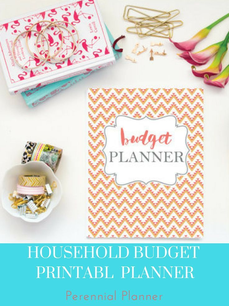 Budget Planner Printable, Aztec Design Monthly Household Budget - budget form