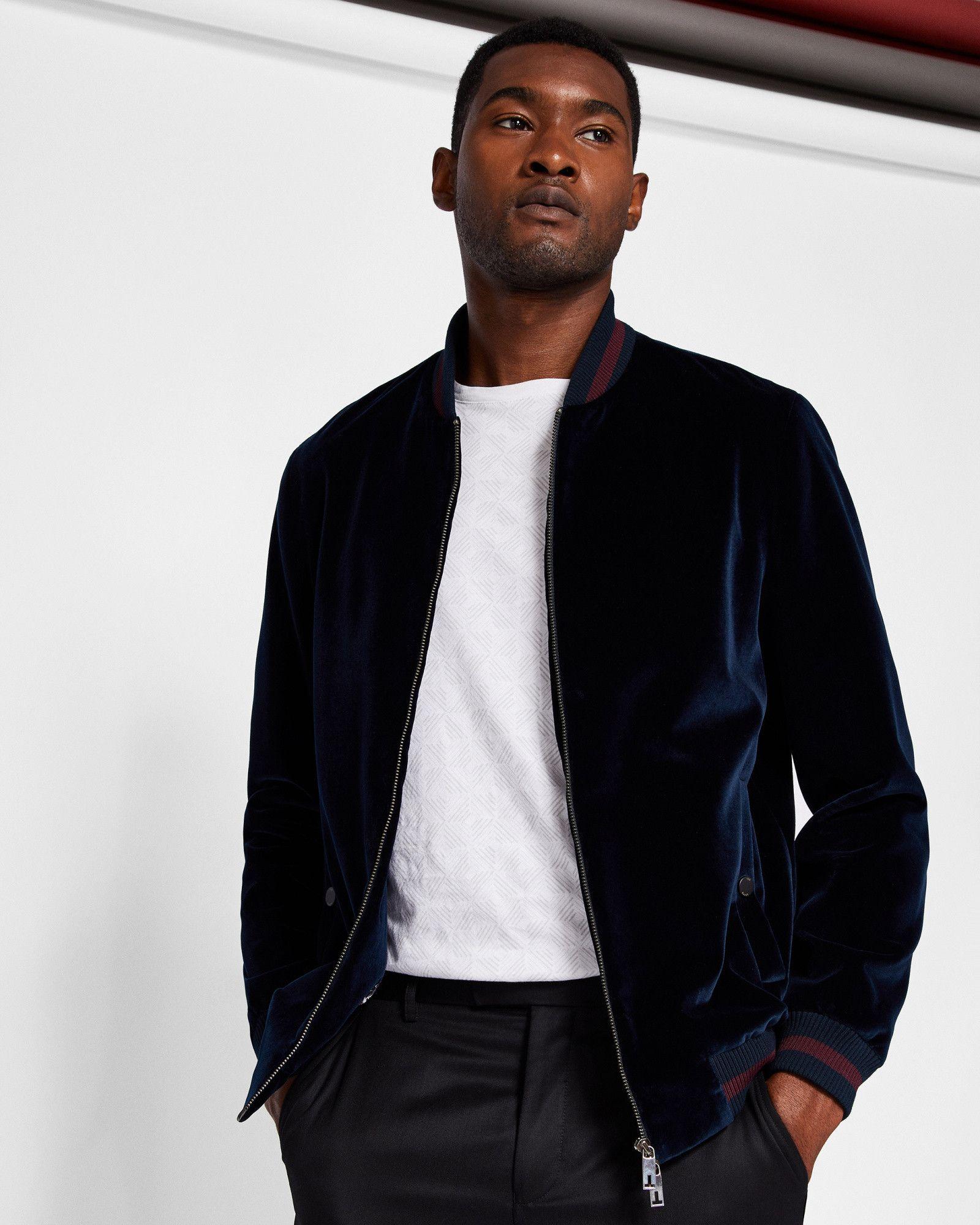 Ted Baker Velvet Bomber Jacket Designer Clothes For Men Velvet Bomber Jacket Bomber Jacket [ 2000 x 1600 Pixel ]