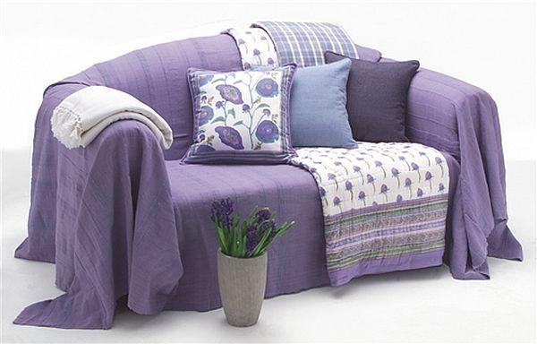 Best Sofa Cover Ideas Purple Sheet Decorative Pillows White 400 x 300