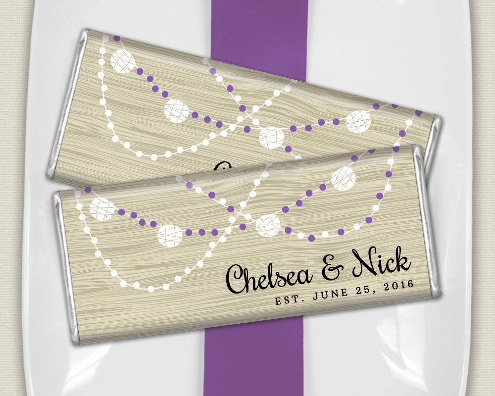 Wood Themed Wedding Favors: Personalized HERSHEY\'S Bar Wrappers for ...