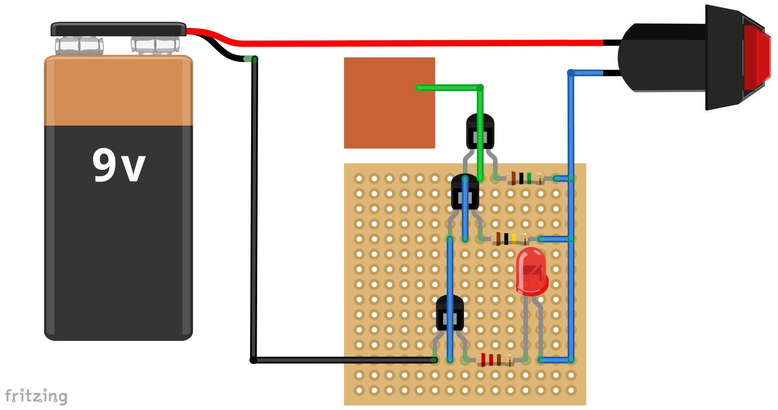 Basic Electronic Circuits Projects Non Contact Voltage Detector Producetion Pinterest Electronics This Simple And Simply Ingenious Maker Tool Can Detect Nearby Electrical Fields Using A Circuit Built Around Three Npn Transistors