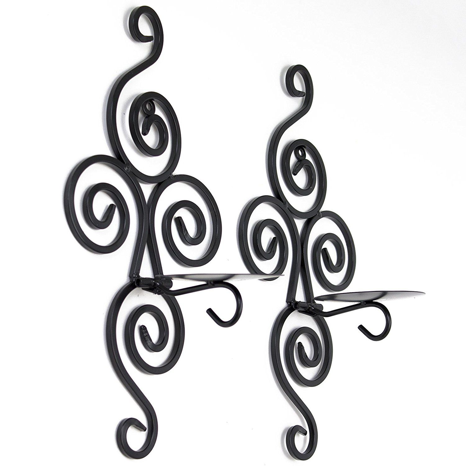 Adorox set sconce swirling wrought iron hanging wall