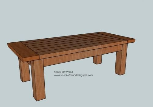Ana White Build a Tryde Coffee Table Free and Easy DIY Project