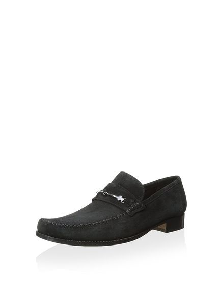Bruno Magli Pittore Loafer with Bit and Cross-Stitch Vamp