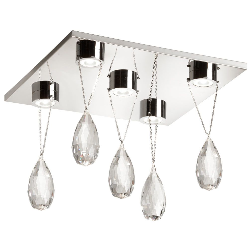 Cristallo 5 Light Flush Mount
