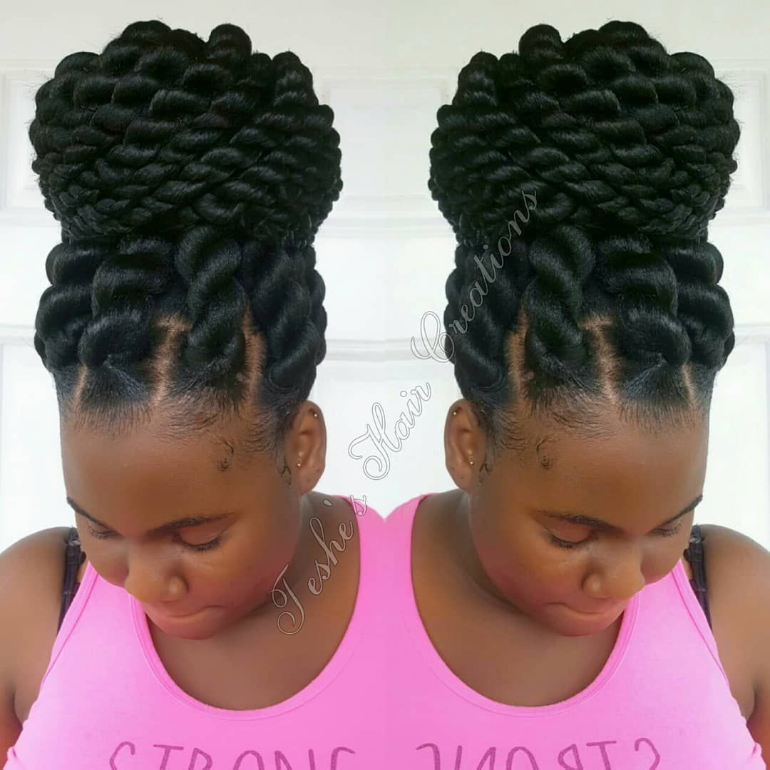 Laitecia Morton On Instagram Hairstyle Teshe Shaircreation Jumbo Rope Twist Hairstylist Te Braided Hairstyles Updo Twist Braid Hairstyles Expression Braids