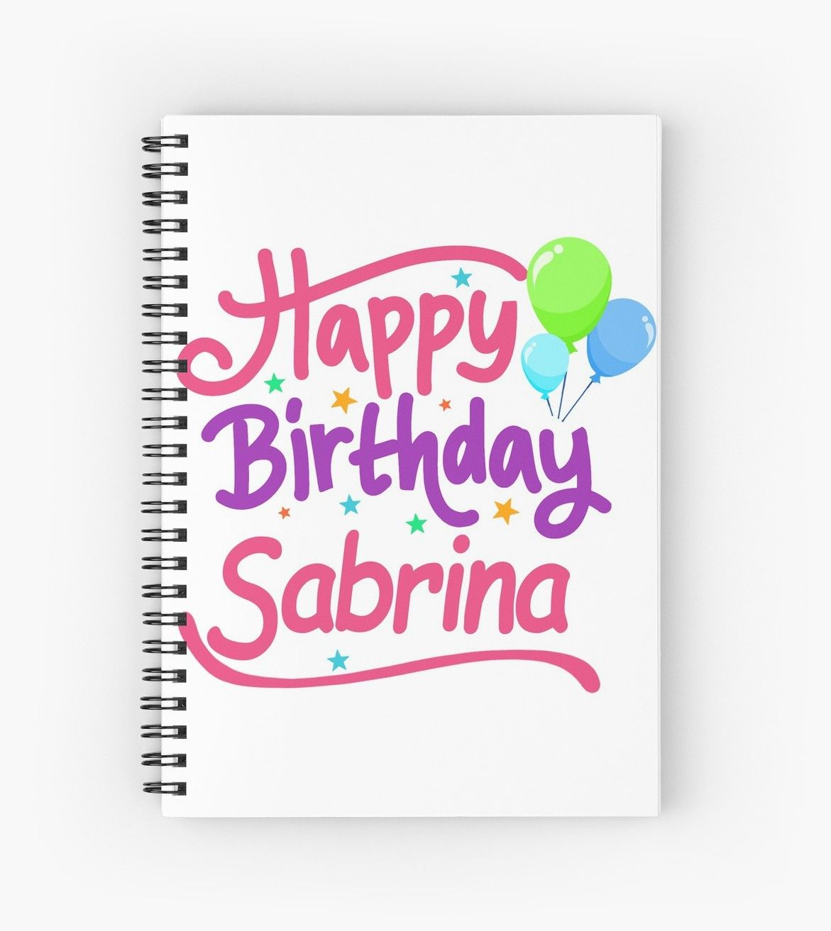 Happy Birthday Sabrina Spiralblock Von Pm Names Glucklicher