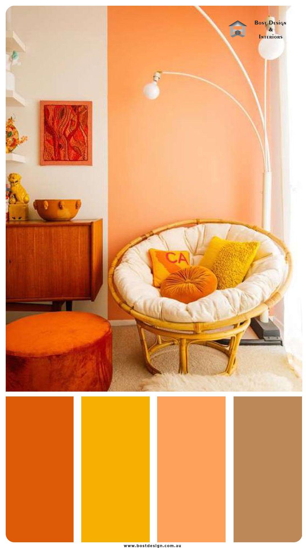 fall color palette idea for living room   Living room orange ...