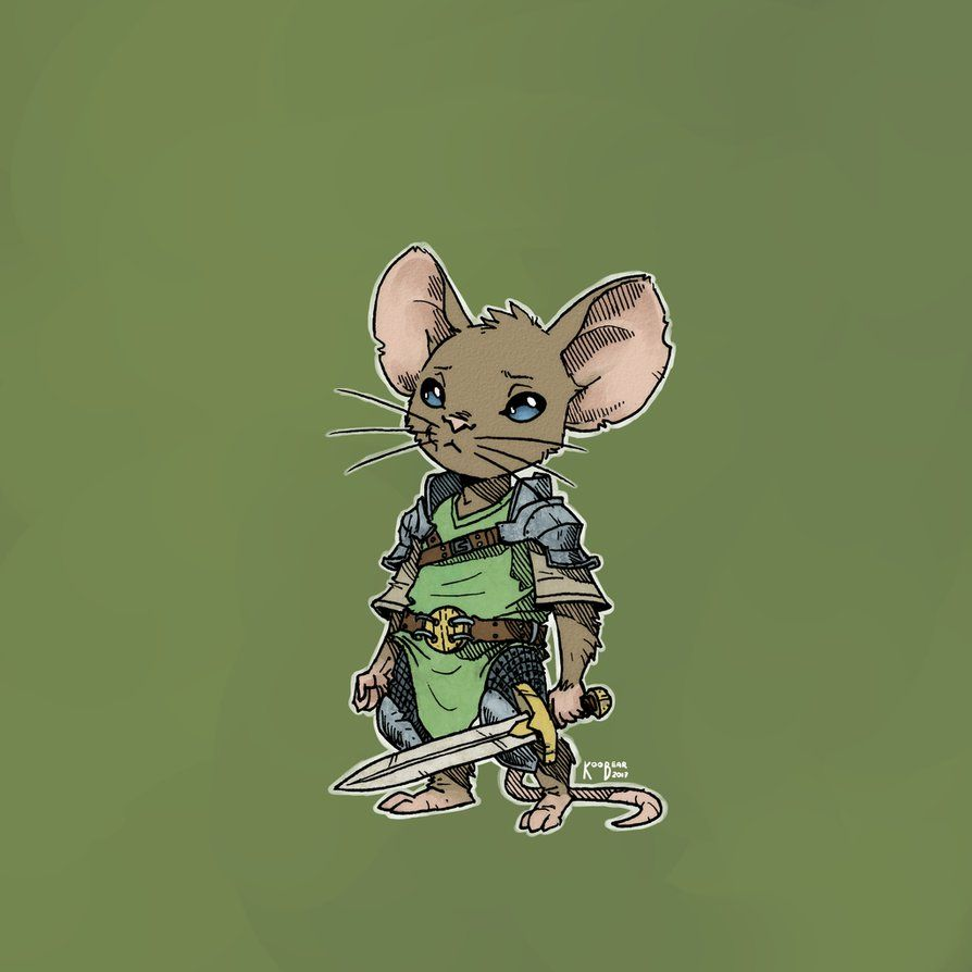 Brave Mouse Warrior By KooBearBlog