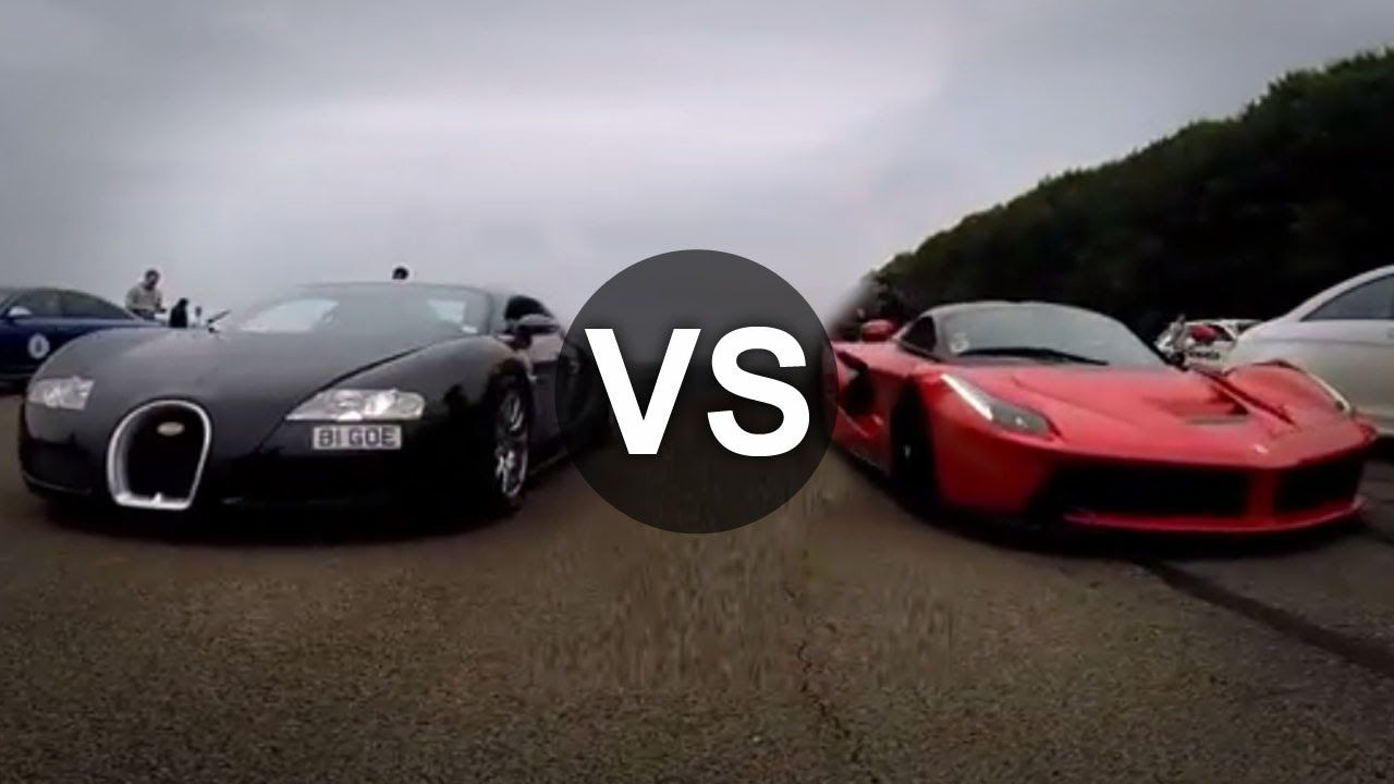 ferrari laferrari vs bugatti veyron drag race. Black Bedroom Furniture Sets. Home Design Ideas