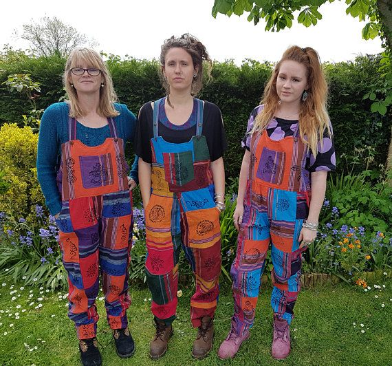 Block Print Symbols Women/'s Heavy Cotton Patchwork Trousers Hippy Boho Men