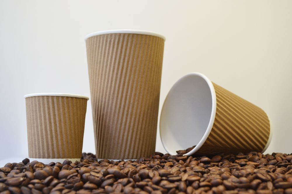 Details About Insulated Ripple Disposable Paper Coffee Cups
