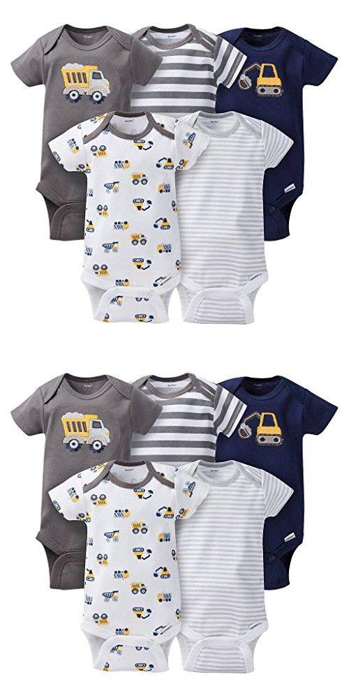 c88f947cc Gerber Baby-Boys Variety Onesies Brand Bodysuits, Trucks, 12 Months (Pack  of 5)